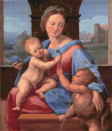 The Garvagh Madonna Cross Stitch Chart - Raphael