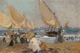 Sailing Vessels on a Breezy Day Cross Stitch Pattern - Joaquin Sorolla y Bastida