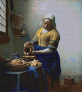 The Kitchen Maid Cross Stitch Pattern - Johannes Vermeer