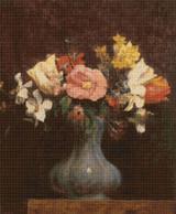 Flowers, Camelias and Tulips Cross Stitch Pattern - Henri Fantin-Latour
