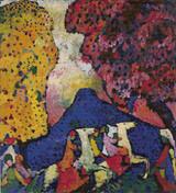Blue Mountain Cross Stitch Pattern - Wassily Kandinsky