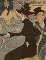 Divan Japonais Cross Stitch Chart - Henri de Toulouse-Lautrec
