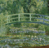 Water-Lily Pond Cross Stitch Chart - Claude Monet