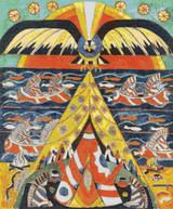 Indian Fantasy Cross Stitch Pattern - Marsden Hartley