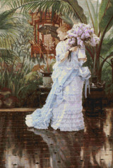 The Bunch of Lilacs Cross Stitch Pattern - James Tissot