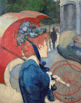 Woman with Umbrella Cross Stitch Pattern - Louis Anquetin