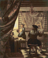 The Art of Painting Cross Stitch Pattern - Johannes Vermeer
