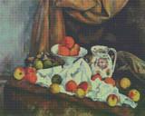 Compotier, Pitcher and Fruit Cross Stitch Chart - Paul Cézanne