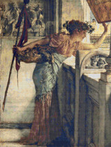 A Bacchante Cross Stitch Pattern - Sir Lawrence Alma-Tadema