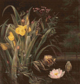 A Lily Pond Cross Stitch Chart - Hermania Sigvardine Neergaard