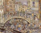 Canal Cross Stitch Pattern - Maurice Prendergast