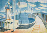 Newhaven Harbour Cross Stitch Pattern - Eric Ravilious