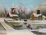 Winter Cross Stitch Pattern - Henri Rousseau