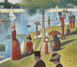 A Sunday Afternoon on the Island of La Grande Jatte Cross Stitch Pattern - Detail - Georges Seurat