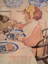 Then the Epicure (The Third Age) Cross Stitch Chart - Jessie Willcox Smith