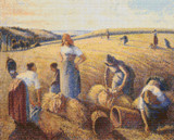 The Gleaners Cross Stitch Chart - Camille Pissarro