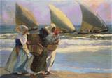 Three Sails Cross Stitch Pattern - Joaquin Sorolla y Bastida