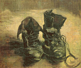 A Pair of Shoes Cross Stitch Pattern - Vincent van Gogh