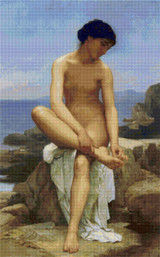 Baigneuse Assise Cross Stitch Pattern - William Bouguereau