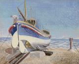 Lifeboat Cross Stitch Pattern - Eric Ravilious