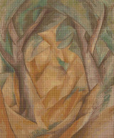 Trees at L'Estaque Cross Stitch Pattern - George Braque