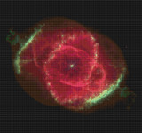 Cat's Eye Nebula Cross Stitch Pattern