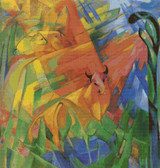 Animals in Landscape Cross Stitch Chart - Franz Marc