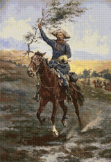 The Flag of Truce in the Indian War Cross Stitch Pattern - Frederic Remington