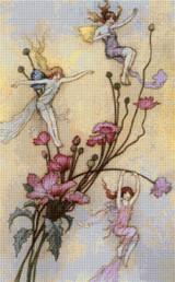 Three Spirits Filled with Joy Cross Stitch Pattern - Warwick Goble