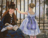 The Railway Cross Stitch Chart - Edouard Manet