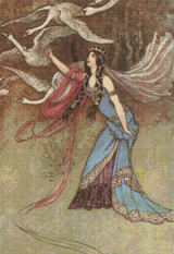 The Six Swans Cross Stitch Pattern - Warwick Goble
