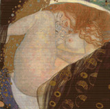 Danae Cross Stitch Pattern - Detail - Gustav Klimt