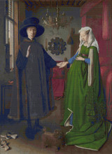 The Arnolfini Marriage Cross Stitch Chart - Jan Van Eyck