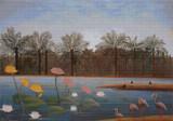 The Flamingos Cross Stitch Pattern - Henri Rousseau
