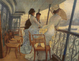 The Gallery of the H.M.S. Calcutta Cross Stitch Chart - James Tissot