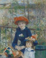 Two Sisters - On the Terrace Cross Stitch Pattern - Pierre-Auguste Renoir