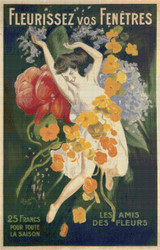 Fleurissez vos Fenetres Cross Stitch Pattern - Leonetto Cappiello