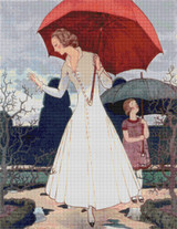 Vogue Magazine Cover - April 1, 1922 Cross Stitch Pattern