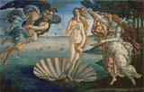The Birth of Venus Cross Stitch Pattern - Sandro Botticelli