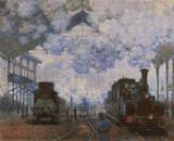 Arrival at Saint-Lazare Station Cross Stitch Pattern - Claude Monet