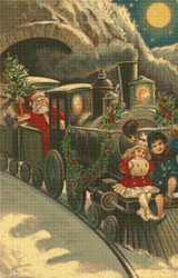 The Santa Train Cross Stitch Pattern