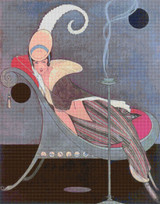 Vogue Magazine Cover - July 15, 1914 Cross Stitch Pattern