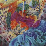 Simultaneous Vision Cross Stitch Pattern - Umberto Boccioni