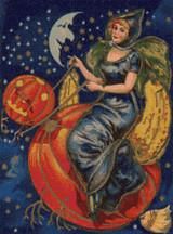 Pumpkin Ride Cross Stitch Pattern
