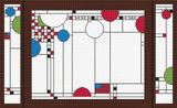 Coonley Playhouse Triptych Cross Stitch Pattern - Frank Lloyd Wright