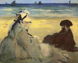 On the Beach Cross Stitch Chart - Edouard Manet