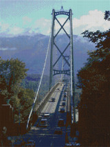 Lions Gate Bridge - Vancouver Cross Stitch Pattern