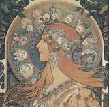 Zodiac Cross Stitch Pattern - Alfons Mucha