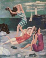 Bathers Cross Stitch Pattern - Pablo Picasso