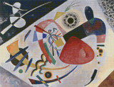 Red Spot II Cross Stitch Pattern - Wasilly Kandinsky